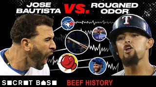 The Jose Bautista-Rougned Odor beef featured an iconic bat flip and an equally iconic face punch