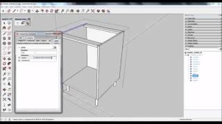 Como Tornar Uma Porta De Um Módulo De Cozinha Interactivo No Sketchup Com Os Componentes Dinâmicos.