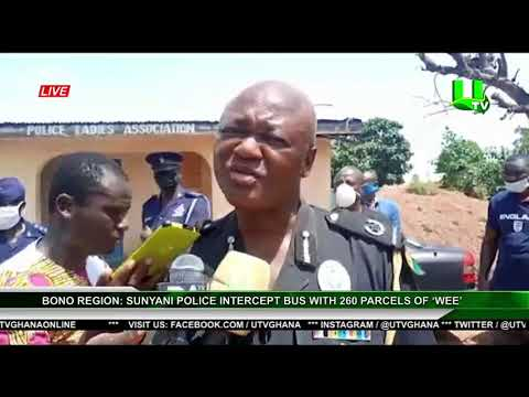 Drugs Law Enforcement Unit Of Police Sunyani Has Arrested 260 Parcels Of Wee