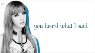 2NE1 - Missing You (Color Coded Lyrics: Hangul, Romaji, English)