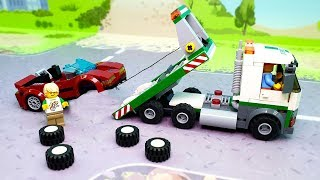 Cars Toys - cool car Tow truck. Kids Cartoon Play for Kids| LEGO Cars Мультики про машинки 2019