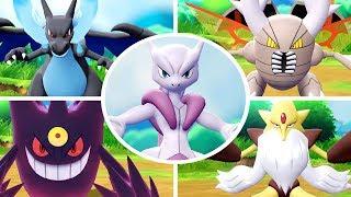 Pokémon Let's Go Pikachu & Eevee - All Mega Evolutions + Moves