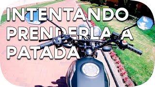 INTENTANDO ENCENDER LA MOTO A PATADA | PRIMER VÍDEO CON EL AUDIO DE LA CAMARA