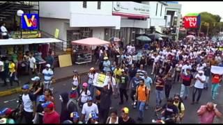 preview picture of video 'Así fue la marcha juvenil este 12F en Valera, opacada por hechos irregulares'