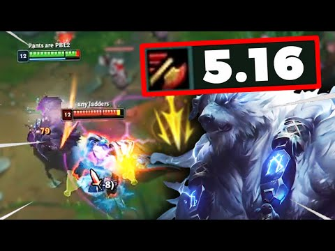 REWORKED VOLIBEAR WITH 5.16 ATTACK SPEED IN A REAL GAME!! LETHAL TEMPO VOLIBEAR GAMEPLAY