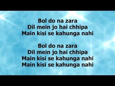 bol do na zara lyrics azhar armaan malik emraan hashmi