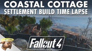 Coastal Cottage TIME LAPSE - Realistic Fallout 4 Settlement Build