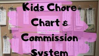Kids Chore Chart🧺🧹Allowance/Commission System 💵