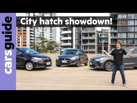 Kia Rio GT-Line v Toyota Yaris SX v Suzuki Swift GLX Turbo: 2021 city car comparison!