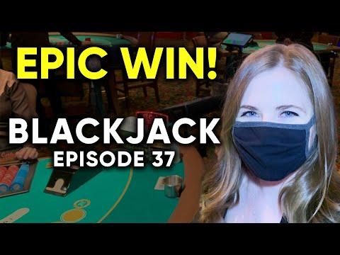 EPIC HUGE WIN! Wild Session Of Blackjack! $1500 Buy in! Episode 37