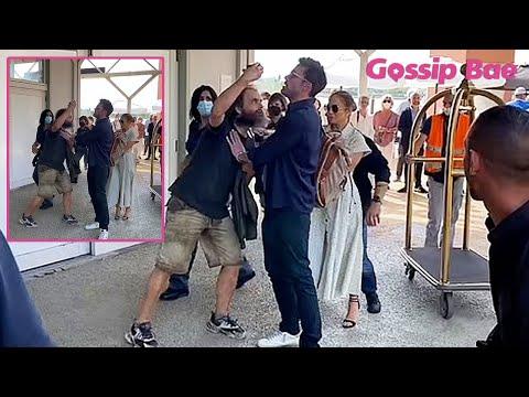 Ben Affleck protects Jennifer Lopez from crazy fan - Gossip Bae