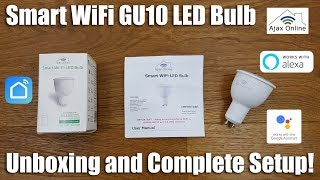 Smart Gu10 WiFi Bulb no Hub Required Works with Alexa and Google Home [Hands on Review and Test]