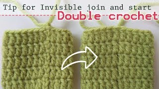 TIP 5 | Invisible join row (double crochet) nice look start stitch