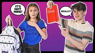 CRUSH REACTS to WHAT'S IN MY SCHOOL BAG **EXPOSED** Must Watch Challenge 🎒  Sophie Fergi