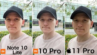 Xiaomi Mi Note 10 Lite - CAMERA TEST vs Mi 10 Pro vs iPhone 11 Pro