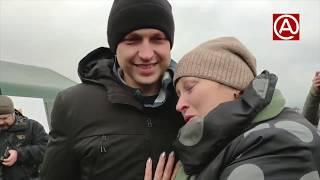 Эмоциональная встреча освобожденного из плена с матерью. Pavlovskynews