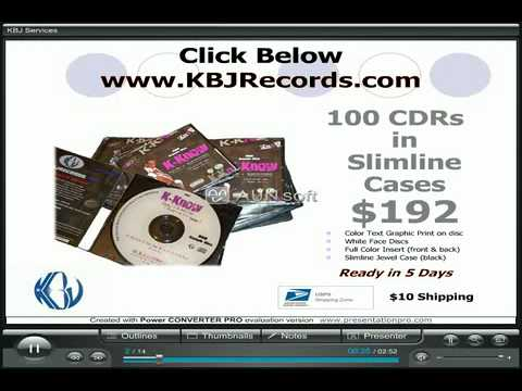 KBJ Video Cheap CD Duplication, Music Mastering, Free Rap Instrumentals, and Graphic Design Services