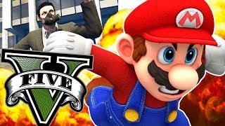 MARIO RPG VS FLYING CARS - GTA 5 Online Funny Moments