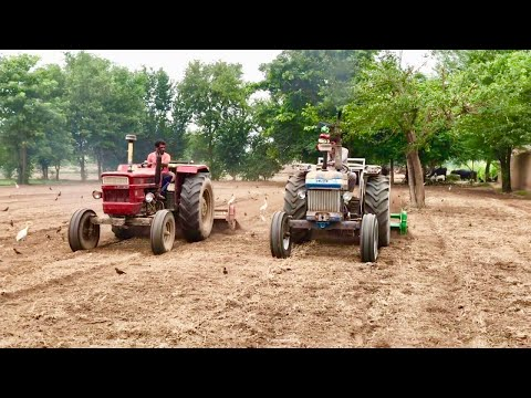 Ford 4610 vs New Holland 640 working together with rotavator