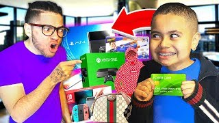 Kid spends $10,000 on Brothers Credit Card! **insane shopping spree** | MindOfRez