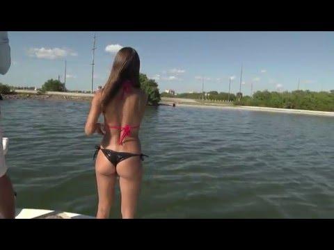 Girl Snook Fishing In Florida