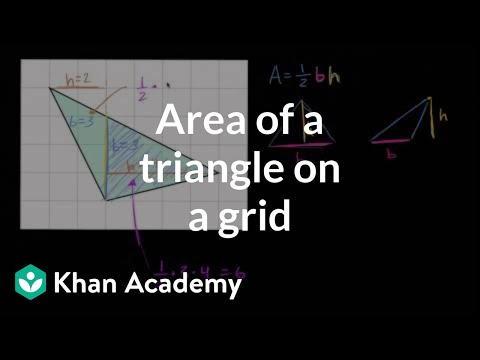 Area of a triangle on a grid video area khan academy ccuart Gallery