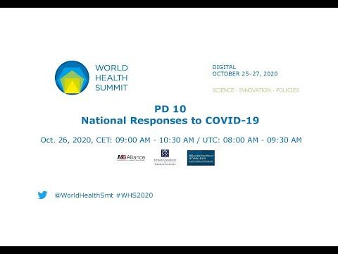 PD 10 - odpowiedź narodowa na COVID-19 - World Health Summit 2020