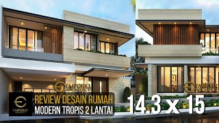 Video Desain Rumah Modern 2 Lantai Bapak Lukman di  Tangerang, Banten