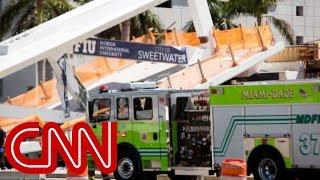 Multiple fatalities, vehicles crushed in Florida International University pedestrian bridge collapse