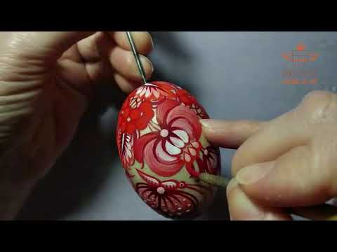 Hanging mini eggs decorations 3.5 cm х 5 pcs - painted wooden Easter eggs in bright colors