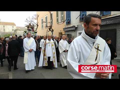 VIDÉO. Ajaccio : la procession de la Madunnuccia suivie par de nombreux fidèles