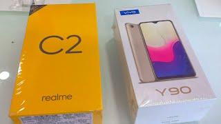 Vivo Y90 vs Realme C2 Unboxing +Compare !!! Comparison Realme C2 vs Vivo Y90 !!!