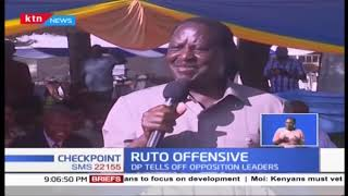 DP Ruto accuses Raila of trying to export Politics of conmanship and deceit into jubilee