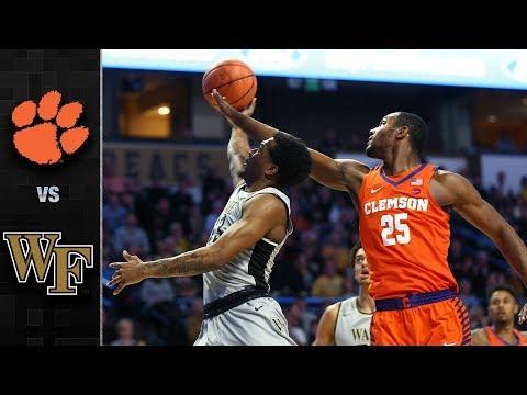Clemson vs. Wake Forest Basketball Highlights (2017-18)