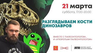 РАЗГЛЯДЫВАЕМ КОСТИ ДИНОЗАВРОВ вместе с Палеонтологом… и «Упоротым Палеонтологом»