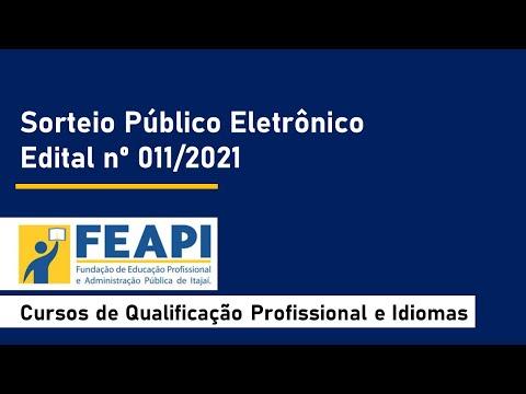 Sorteio Público Eletrônico - Edital nº 011/2021