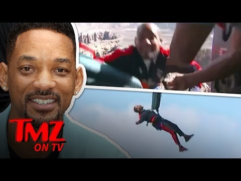 Will Smith Bungee Jumps Off Helicopter Over Grand Canyon for 50th Birthday | TMZ TV