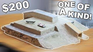 $200 DIY CONCRETE FINGERBOARD SKATEPARK
