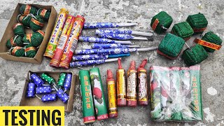 Testing different types of Diwali firecrackers 2019 ||Crackers king