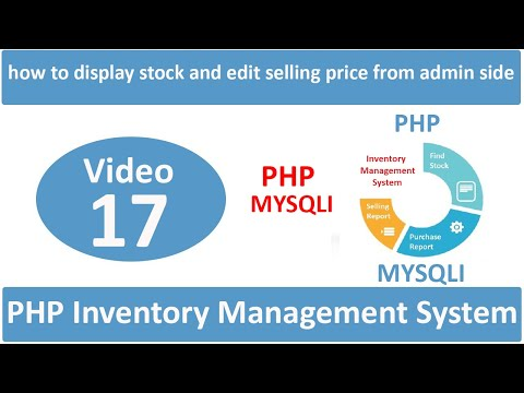 how to display stock and edit selling price from adimin side in php ims