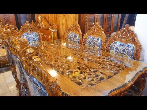 , title : 'চিটাগং সেগুন কাঠের রাজকীয় ডাইনিং টেবিল এর দাম /Dining table and price'