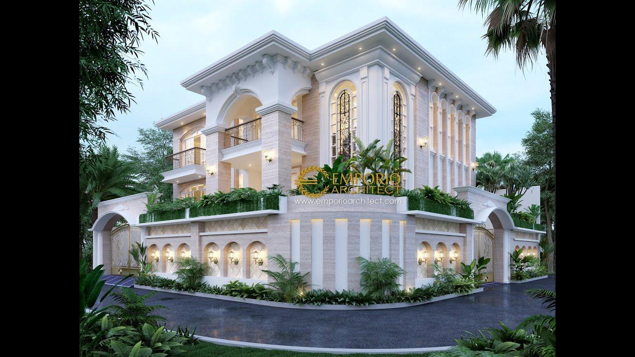 Video 3D Desain Rumah Hook Mediteran 2 Lantai Bapak William di Jakarta Utara