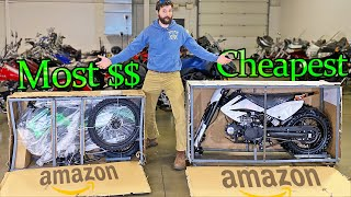 I BOUGHT the CHEAPEST and MOST EXPENSIVE Dirt Bikes on Amazon