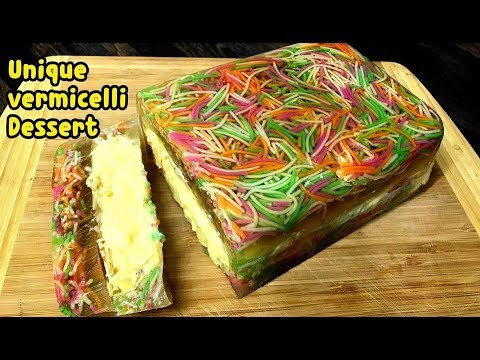 Unique Vermicelli Dessert First Ever On Youtube Must Watch By Yasmin's Cooking