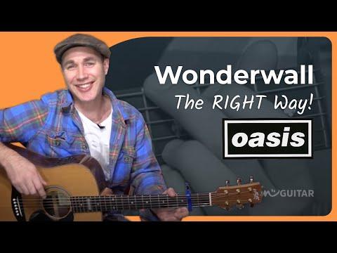 Wonderwall - Oasis - Acoustic Song Guitar Lesson (BS-805)