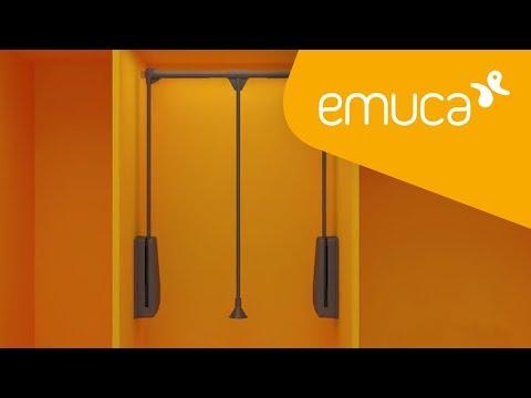 Cómo montar Hang, una barra abatible para armario - Emuca