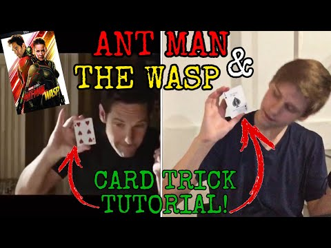 ANT MAN AND THE WASP CARD TRICK TUTORIAL! (Part #1)