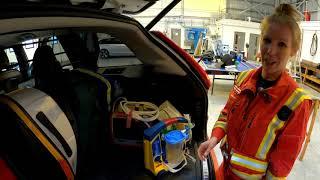 Critical Care Paramedic Jess Shows you around our Critical Care Car