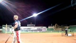 """Jeff Hall Hits """"Walk Off"""" Derby HR Vs. Chicago Cubs Players At Carlos Zambrano's Charity Event."""