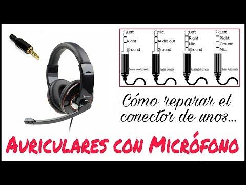 CÓMO REPARAR EL CONECTOR (JACK) DE UNOS AURICULARES CON MICRÓFONO